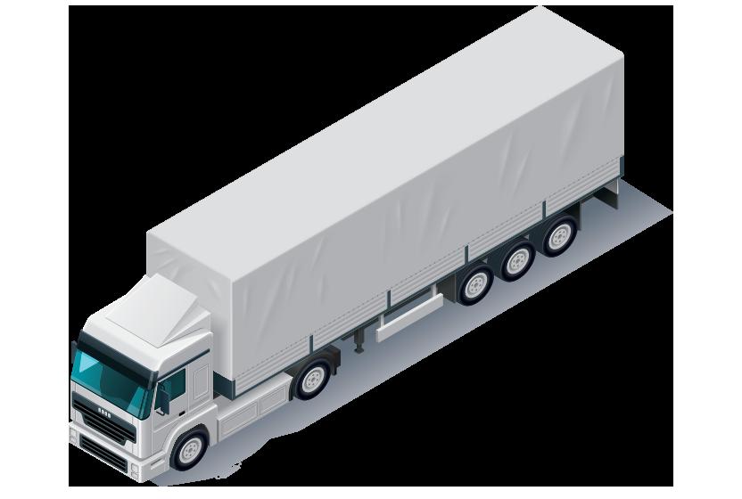 semi truck covered